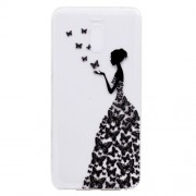 Ultra-thin Patterned Soft TPU Back Mobile Phone Case for Meizu M6 Note - Butterfly Girl