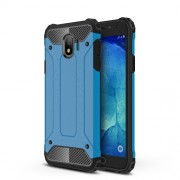 Armor Guard Plastic + TPU Hybrid Phone Casing Cover for Samsung Galaxy J4 (2018) - Baby Blue
