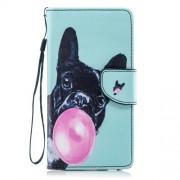Δερμάτινη Θήκη Πορτοφόλι με Βάση Στήριξης για Samsung Galaxy J4 (2018) - Χαριτωμένος Σκύλος