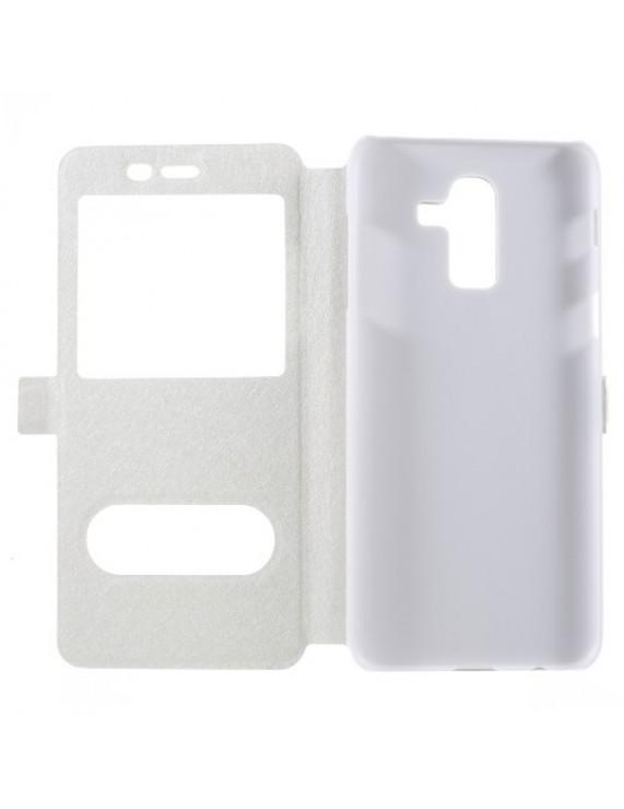 704c4da80c Δερμάτινη Θήκη Βιβλίο Smart Cover (Όψη Μεταξιού) για Samsung Galaxy J8  (2018) - Λευκό (50016591) by stoucky.gr