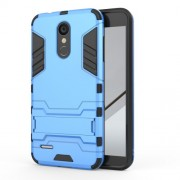 Shockproof PC + TPU Hybrid Kickstand Protection Cover for LG K8 (2018) - Baby Blue