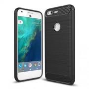 Θήκη Σιλικόνης TPU Carbon Fiber Brushed για Google Pixel 5.0 inch - Μαύρο