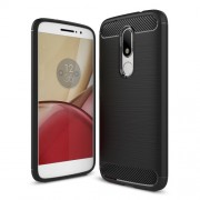 Θήκη Σιλικόνης TPU Carbon Fiber Brushed για Motorola Moto M - Μαύρο