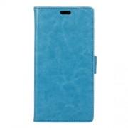 Δερμάτινη Θήκη Πορτοφόλι με Βάση Στήριξης για Motorola Moto M - Μπλε