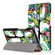 Δερμάτινη Θήκη Βιβλίο Tri-Fold με Βάση Στήριξης για Lenovo Tab 4 8 Plus (TB-8704F,N) - Δέντρο με Πολύχρωμα Φύλλα