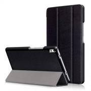 Δερμάτινη Θήκη Βιβλίο Tri-Fold με Βάση Στήριξης για Lenovo Tab 4 8 Plus (TB-8704F,N) - Μαύρο