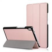 Δερμάτινη Θήκη Βιβλίο Tri-Fold με Βάση Στήριξης για Lenovo Tab 4 8 Plus (TB-8704F,N) - Ροζέ Χρυσαφί
