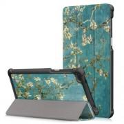 Δερμάτινη Θήκη Βιβλίο Tri-Fold με Βάση Στήριξης για Lenovo Tab 7 Essential / Tab4 7 Essential(TB-7304F) - Ανθισμένα Κλαδιά