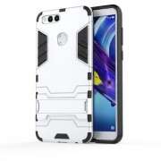 Cool Guard Plastic TPU Hybrid Back Cover with Kickstand for Huawei Honor 7X - Silver
