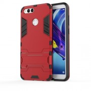 Cool Guard Kickstand Hybrid PC + TPU Phone Case for Huawei Honor 7X - Red