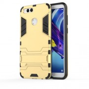 Cool Guard Kickstand Hybrid PC + TPU Phone Cover for Huawei Honor 7X - Gold