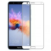 MOCOLO Silk Print Arc Edge Full Coverage Tempered Glass Screen Protector Film for Huawei Honor 7X -  White