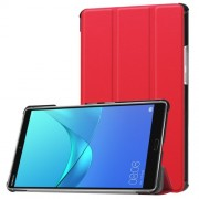 Δερμάτινη Θήκη Βιβλίο Tri-Fold με Βάση Στήριξης για Huawei MediaPad M5 8 (8.4-inch) - Κόκκινο
