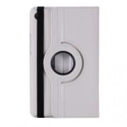 Περιστρεφόμενη Δερμάτινη Θήκη Βιβλίο με Βάση Στήριξης για Huawei MediaPad M5 8 (8.4-inch) - Λευκό
