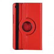 Περιστρεφόμενη Δερμάτινη Θήκη Βιβλίο με Βάση Στήριξης για Huawei MediaPad M5 8 (8.4-inch) - Κόκκινο