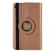 Rotating Stand Litchi Skin Leather Case Cover for Huawei MediaPad M5 8 - Mocha Gold