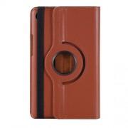 Περιστρεφόμενη Δερμάτινη Θήκη Βιβλίο με Βάση Στήριξης για Huawei MediaPad M5 8 (8.4-inch) - Καφέ