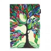 Δερμάτινη Θήκη Πορτοφόλι με Βάση Στήριξης για Huawei MediaPad M5 8 (8.4-inch) - Δέντρο με Πολύχρωμα φύλλα