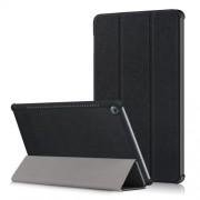 Δερμάτινη Θήκη Βιβλίο Tri-Fold με Βάση Στήριξης για Huawei MediaPad M5 10 / M5 10 (Pro) - Μαύρο