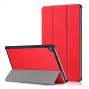 Δερμάτινη Θήκη Βιβλίο Tri-Fold με Βάση Στήριξης για Huawei MediaPad M5 10 / M5 10 (Pro) - Κόκκινο