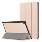 Δερμάτινη Θήκη Βιβλίο Tri-Fold με Βάση Στήριξης για Huawei MediaPad M5 10 / M5 10 (Pro) - Χρυσαφί