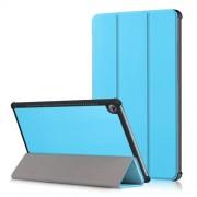 Δερμάτινη Θήκη Βιβλίο Tri-Fold με Βάση Στήριξης για Huawei MediaPad M5 10 / M5 10 (Pro) - Γαλάζιο