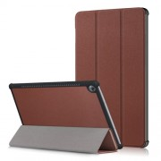 Δερμάτινη Θήκη Βιβλίο Tri-Fold με Βάση Στήριξης για Huawei MediaPad M5 10 / M5 10 (Pro) - Καφέ