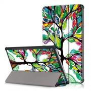 Δερμάτινη Θήκη Βιβλίο Tri-Fold με Βάση Στήριξης για Huawei MediaPad M5 10 / M5 10 (Pro) - Δέντρο με Πολύχρωμα Φύλλα