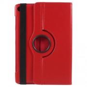 Περιστρεφόμενη Δερμάτινη Θήκη Βιβλίο με Βάση Στήριξης για Huawei MediaPad M5 10 / M5 10 (Pro) - Κόκκινο