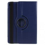 Περιστρεφόμενη Δερμάτινη Θήκη Βιβλίο με Βάση Στήριξης για Huawei MediaPad M5 10 / M5 10 (Pro) - Σκούρο Μπλε