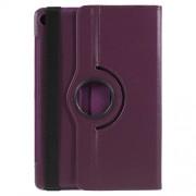 Περιστρεφόμενη Δερμάτινη Θήκη Βιβλίο με Βάση Στήριξης για Huawei MediaPad M5 10 / M5 10 (Pro) - Μωβ