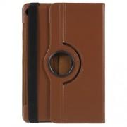 Περιστρεφόμενη Δερμάτινη Θήκη Βιβλίο με Βάση Στήριξης για Huawei MediaPad M5 10 / M5 10 (Pro) - Καφέ