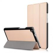 Δερμάτινη Θήκη Βιβλίο Tri-Fold με Βάση Στήριξης για Huawei Mediapad M3 Lite 8.0 (8 Inch) - Χρυσαφί