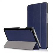 For Huawei Mediapad M3 Lite 8.0 inch Tri-fold Stand Smart Leather Casing - Dark Blue