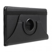 Litchi Grain 360 Degree Rotary Stand Leather Tablet Cover for Huawei Mediapad M3 Lite 8.0 (8 Inch) - Black