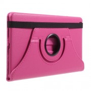 Litchi Grain 360 Degree Swivel Stand Leather Case Accessory for Huawei Mediapad M3 Lite 8.0 (8 Inch) - Rose