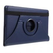 Περιστρεφόμενη Δερμάτινη Θήκη Βιβλίο με Βάση Στήριξης για Huawei Mediapad M3 Lite 8.0 - Σκούρο Μπλε