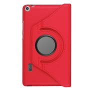 Litchi Grain 360 Degree Rotary Stand Leather Tablet Shell for Huawei MediaPad T3 7.0 4G - Red