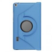 Περιστρεφόμενη Δερμάτινη Θήκη Βιβλίο με Βάση Στήριξης για Huawei MediaPad T3 7.0 - Γαλάζιο