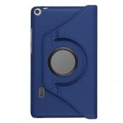 Περιστρεφόμενη Δερμάτινη Θήκη Βιβλίο με Βάση Στήριξης για Huawei MediaPad T3 7.0 - Σκούρο Μπλε