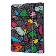 Δερμάτινη Θήκη Βιβλίο Tri-Fold με Βάση Στήριξης για Lenovo Tab 4 10 10.1-inch - Πολύχρωμα Γεωμετρικά Σχέδια
