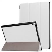 Δερμάτινη Θήκη Βιβλίο Tri-Fold με Βάση Στήριξης για Lenovo Tab 4 10 Plus 10.1-inch - Λευκό