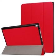Δερμάτινη Θήκη Βιβλίο Tri-Fold με Βάση Στήριξης για Lenovo Tab 4 10 Plus 10.1-inch - Κόκκινο