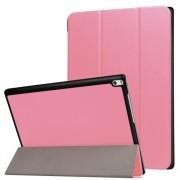 Δερμάτινη Θήκη Βιβλίο Tri-Fold με Βάση Στήριξης για Lenovo Tab 4 10 Plus 10.1-inch - Ροζ