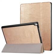 Δερμάτινη Θήκη Βιβλίο Tri-Fold με Βάση Στήριξης για Lenovo Tab 4 10 Plus 10.1-inch - Χρυσαφί