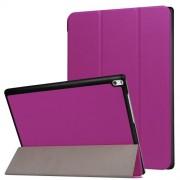 Δερμάτινη Θήκη Βιβλίο Tri-Fold με Βάση Στήριξης για Lenovo Tab 4 10 Plus 10.1-inch - Μωβ