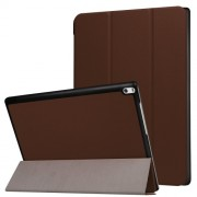 Δερμάτινη Θήκη Βιβλίο Tri-Fold με Βάση Στήριξης για Lenovo Tab 4 10 Plus 10.1-inch - Καφέ
