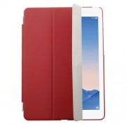 Red Tri-fold Single Front Leather Smart Cover + Back Plastic Case for iPad Air 2