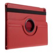 Περιστρεφόμενη Δερμάτινη Θήκη Βιβλίο με Βάση Στήριξης για  iPad Pro 9.7-inch - Κόκκινο