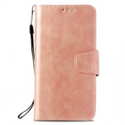 Vintage Oil Buffed Leather Stand Wallet Mobile Casing for Samsung Galaxy S9 Plus SM-G965 - Rose Gold